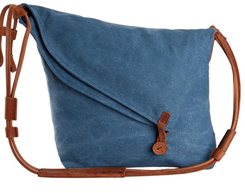 Women Canvas Bag Purse Shoulder Handbag Tote Messenger Bag Cross Body Blue