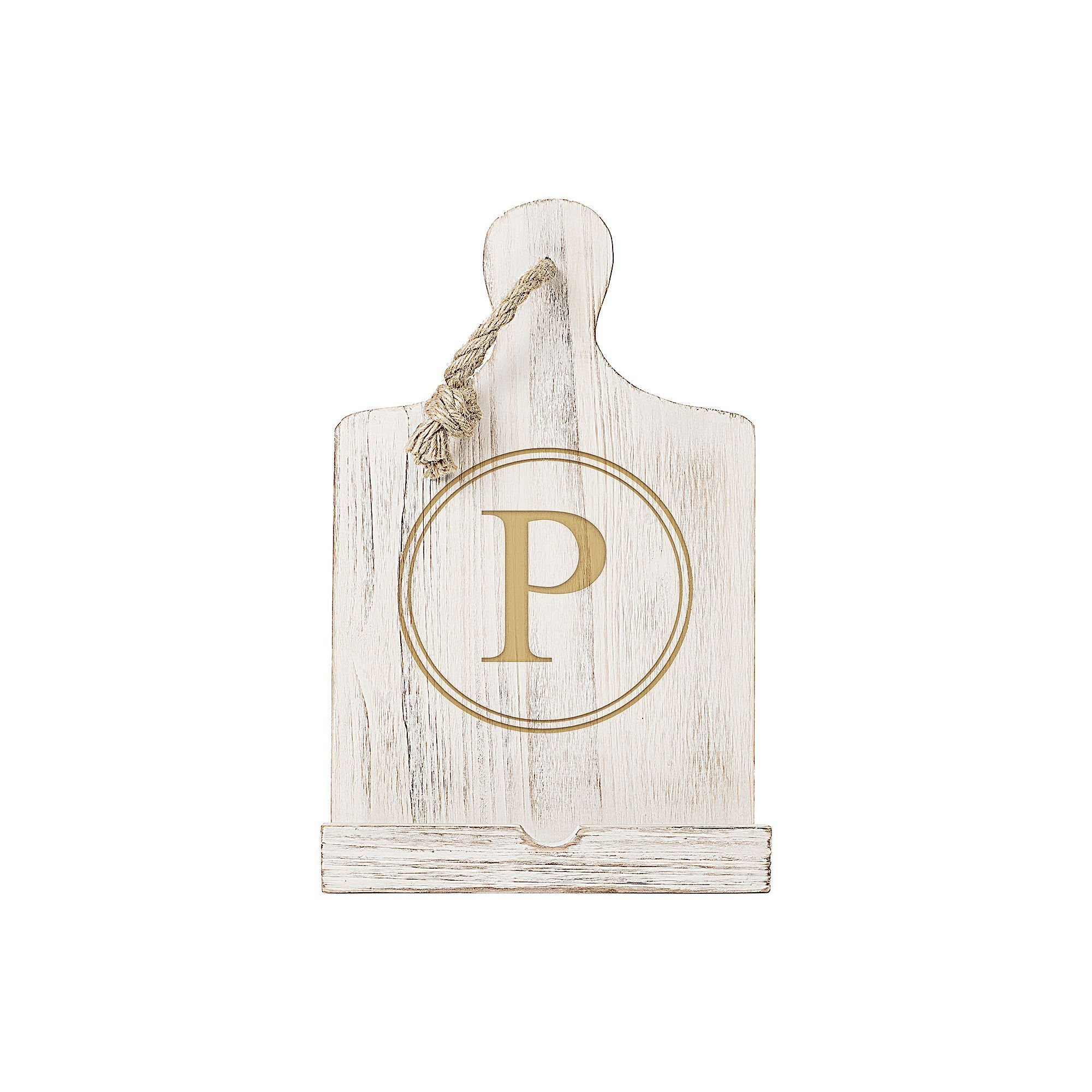 Cathyus concepts monogram white recipe stand products jsp and
