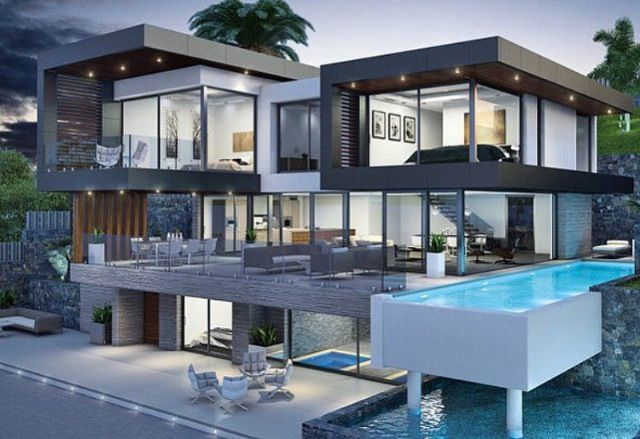 Cool Modern Pad Luxury Homes Dream Houses Modern Mansion House Architecture Design