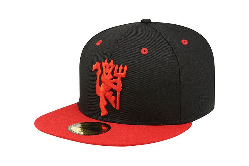 98d5831451b New Era 59Fifty Manchester United Red Devil Fitted Cap Hat Black Premier  League  NewEra  BaseballCap  ManchesterUnited