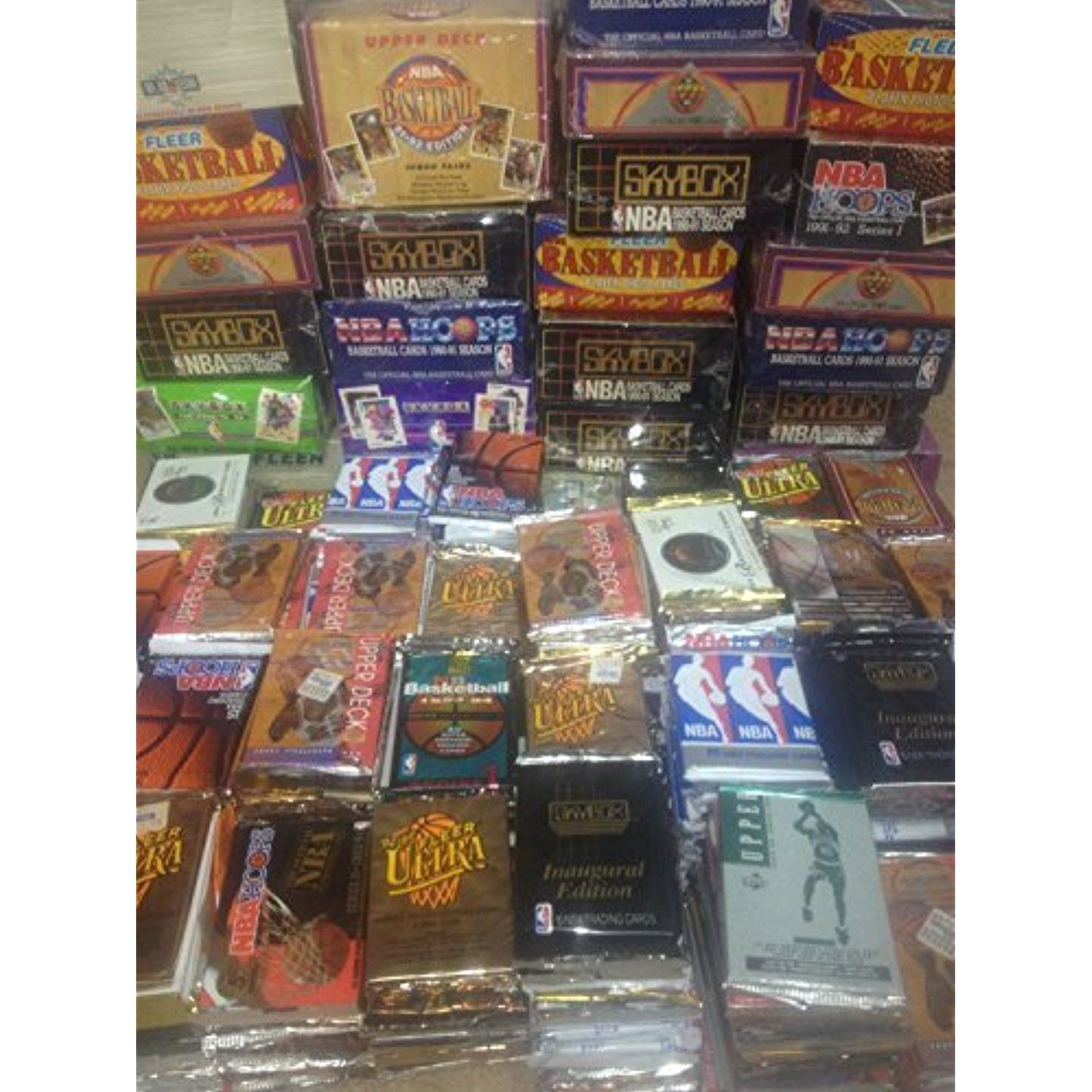 300 unopened basketball cards collection in factory sealed