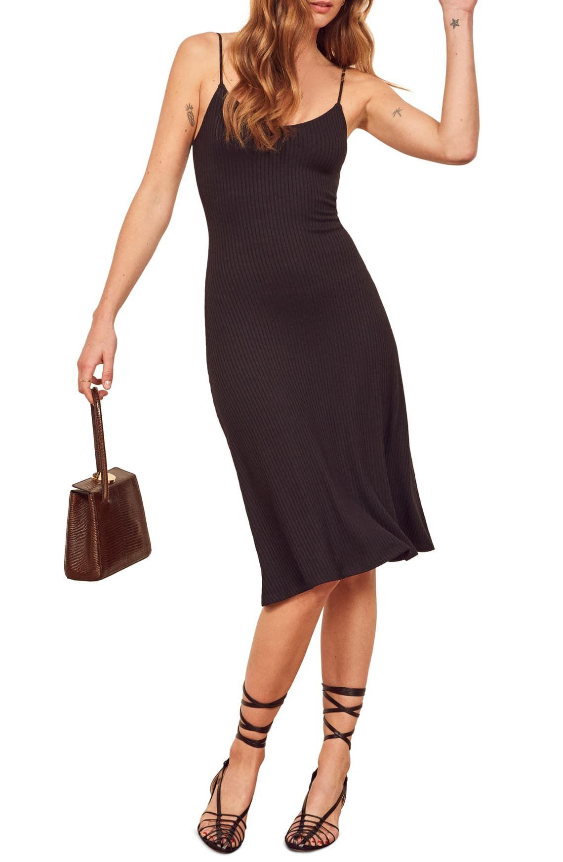 Reformation Shell Ribbed Dress Nordstrom Ribbed Dresses Trendy Cocktail Dresses Dresses [ 1746 x 1140 Pixel ]