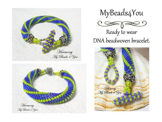 DNA Bracelet Beadwork Bracelet Spiral Bracelet Seed Bead
