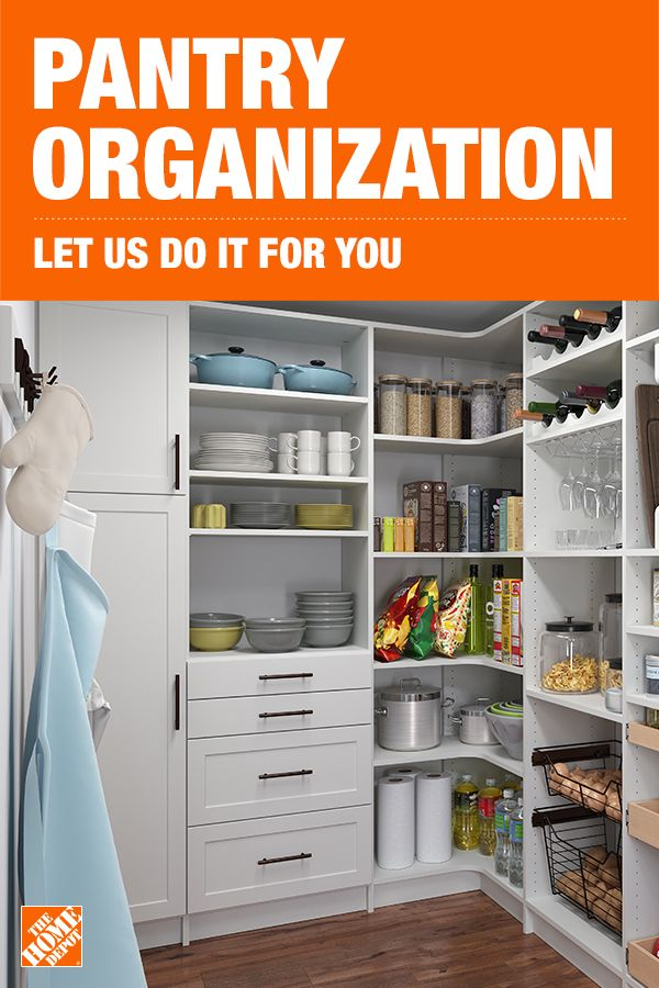 Get Organized With Help From The Home Depot Home Services Kitchen Pantry Design Pantry Remodel Diy Kitchen Storage