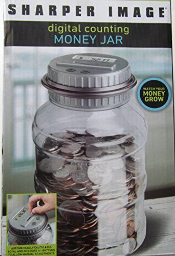 Digital Lcd Display Counting Money Jar Counts All Us Coins Sharper