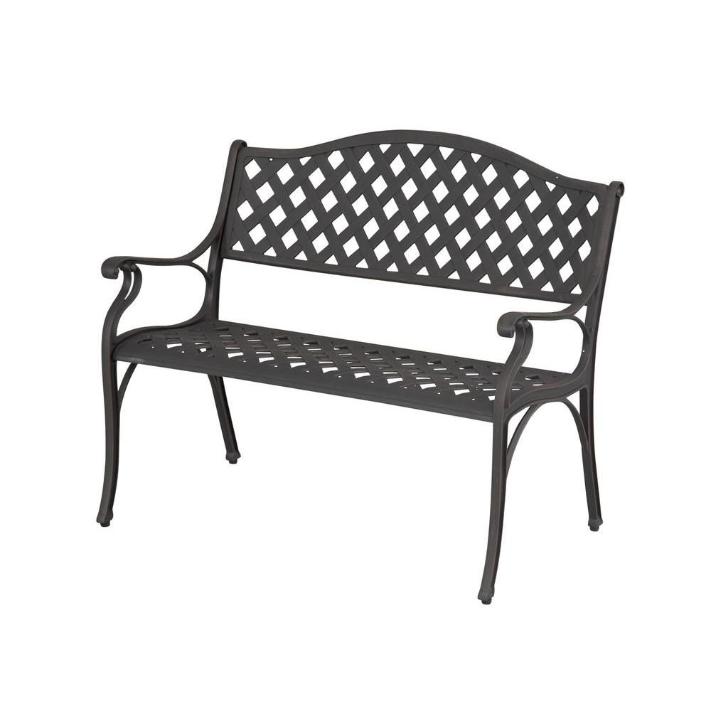 Hampton Bay Legacy Aluminum Patio Bench C526 62   The Home Depot