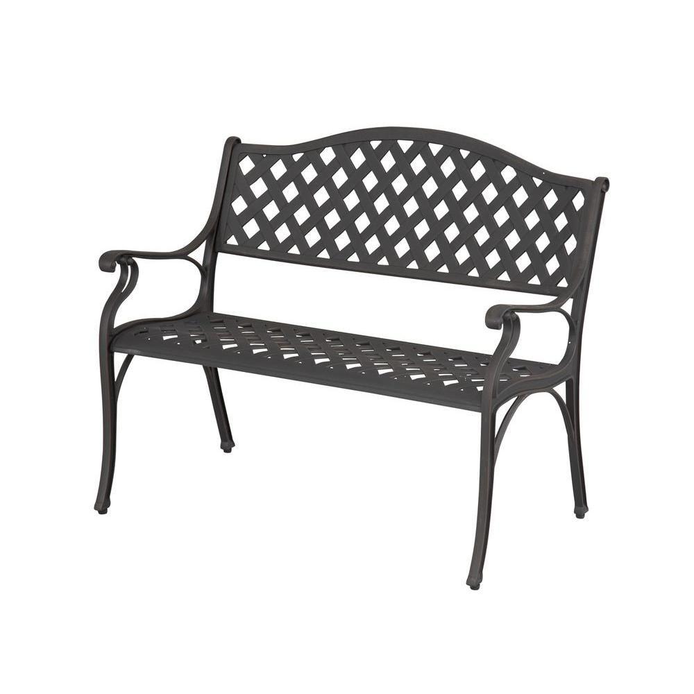 Enjoyable Hampton Bay Legacy Aluminum Patio Bench C526 62 The Home Creativecarmelina Interior Chair Design Creativecarmelinacom