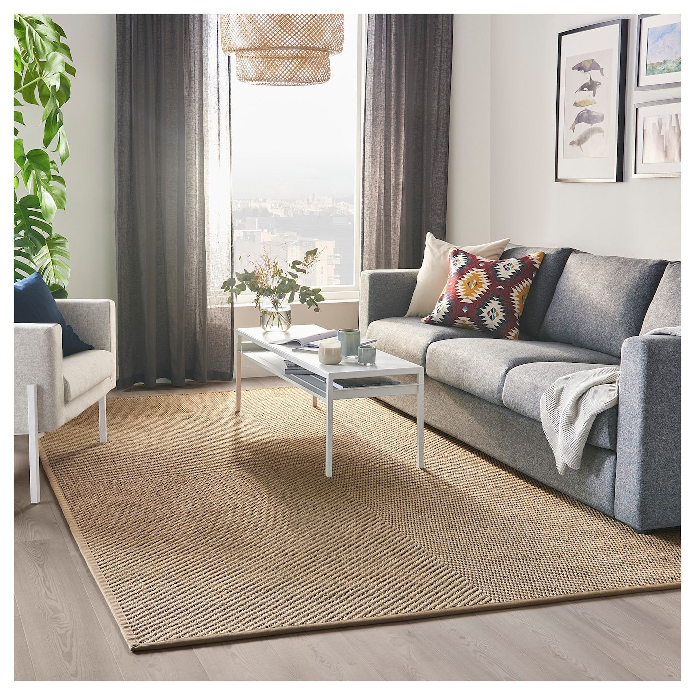 IKEA HELLESTED Natural, Brown Rug, flatwoven in 2019