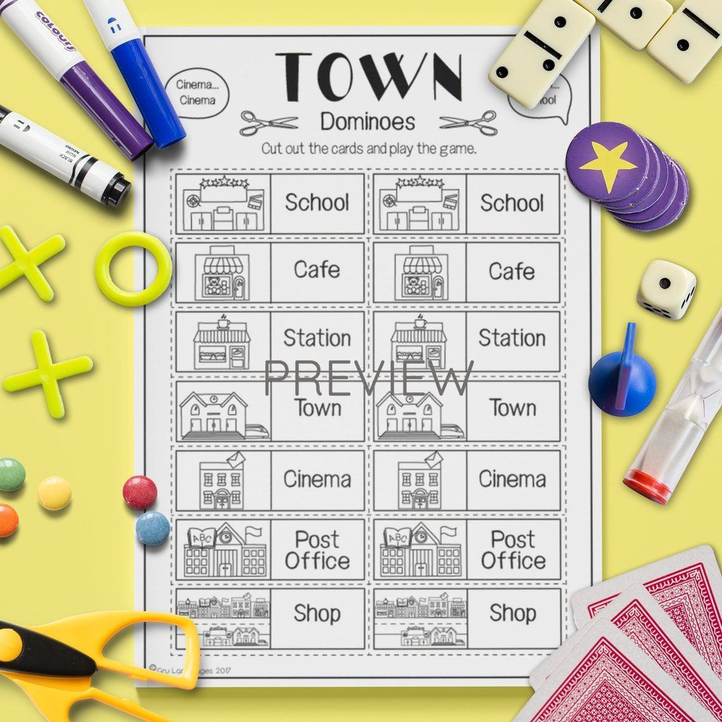 Town Dominoes Game