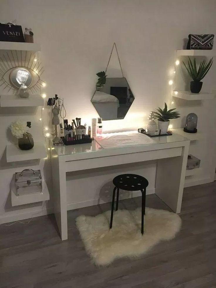45 uroczych i dziewczęcych wskazówek dotyczących dekoracji sypialni dla dziewczynki 24