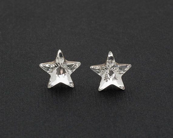 Swarovski Star Earrings Stud Crystal
