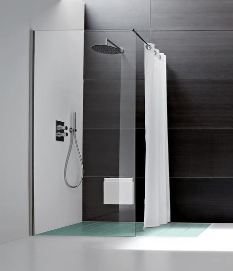 simple minimalist bathroom giano shower by italian brand rexa, Badezimmer