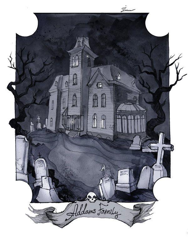 The Addams family house by IrenHorrors.deviantart.com on @deviantART