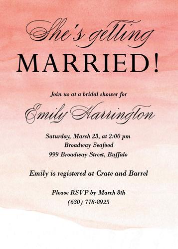 Ombre Bridal Shower Invitation Paper Source Bridal
