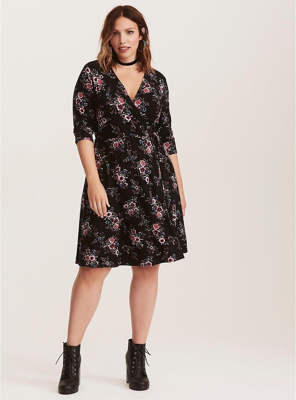 0aae90481f3a Multi-Color Floral Print Wrap Dress | Dresses | Dresses, Wrap Dress ...