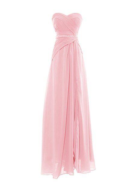 Dresstells Damen Kleider Herzförmig Bodenlang Chiffon Ballkleider  Brautjungfernkleider Cocktailkleider: Amazon.de: Bekleidung