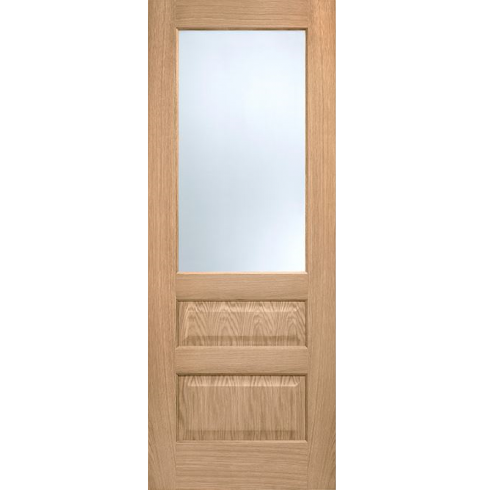 Glazed door supplied fully finished kershaw panel door internal standard also available