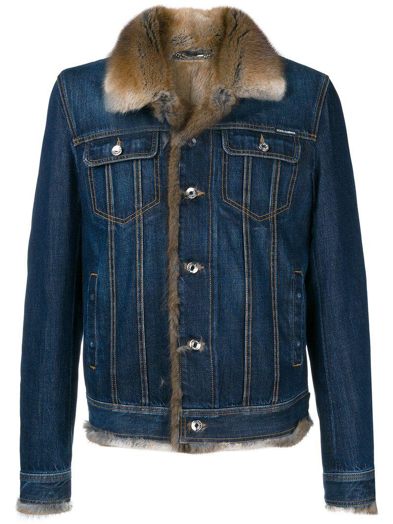 Dolce Gabbana Fur Lined Denim Jacket Dolcegabbana Cloth Fur Lined Denim Jacket Denim Jacket With Fur Designer Denim Jacket [ 1067 x 800 Pixel ]