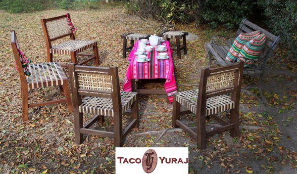Sillones y sillas materas, con bancos y banqueta . Todo madera y ...
