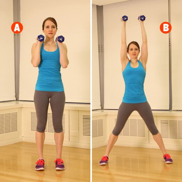 Win the battle of the bulge with press jacks, an exercise from our total-body training workout: http://www.womenshealthmag.com/fitness/military-workout?cm_mmc=Pinterest-_-womenshealth-_-content-fitness-_-onedumbbellworkout