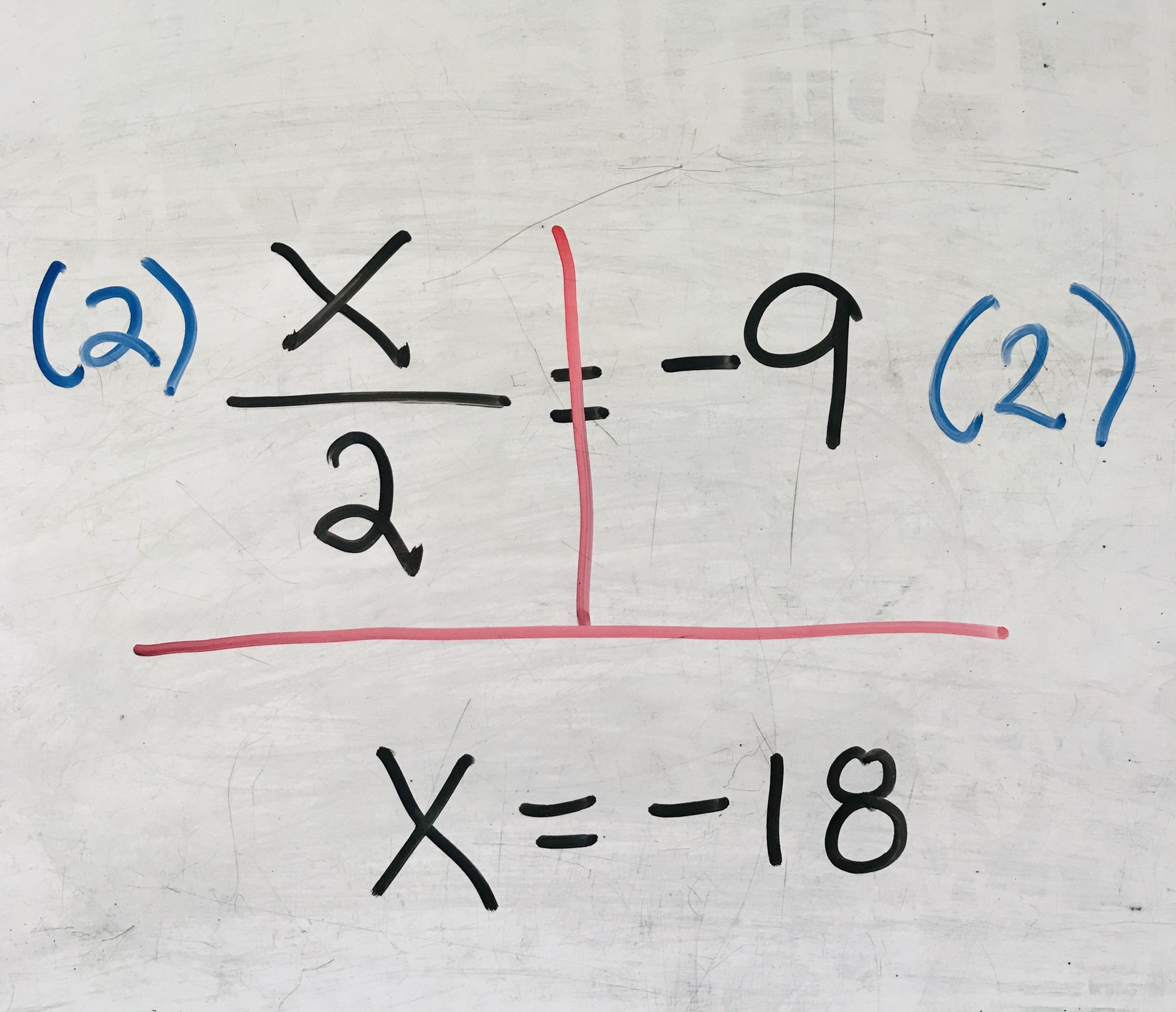 7 General One Step Equations Multiplication And Division