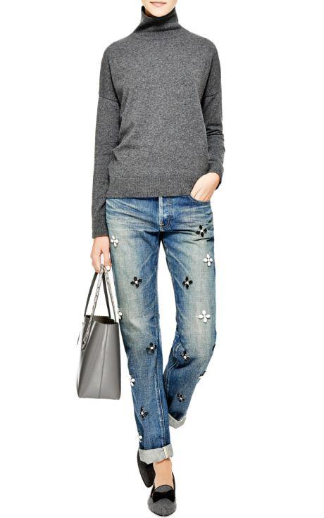 Crystal-Embellished Jeans by Tu es mon Tresor - Moda Operandi