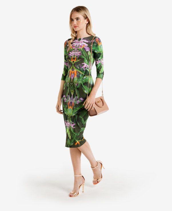 Ted Baker - Patterned Paradise midi dress   My Style   Pinterest