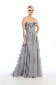 Silver Gray Bridesmaid Dresses