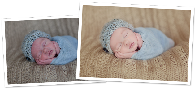 In this photo editing blueprint learn how to retouch your newborn photos to create a nice creamy skin tone