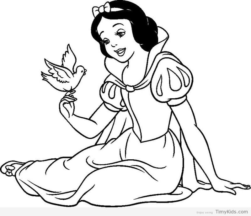 Free Printable Snow White Coloring Pages di 2020