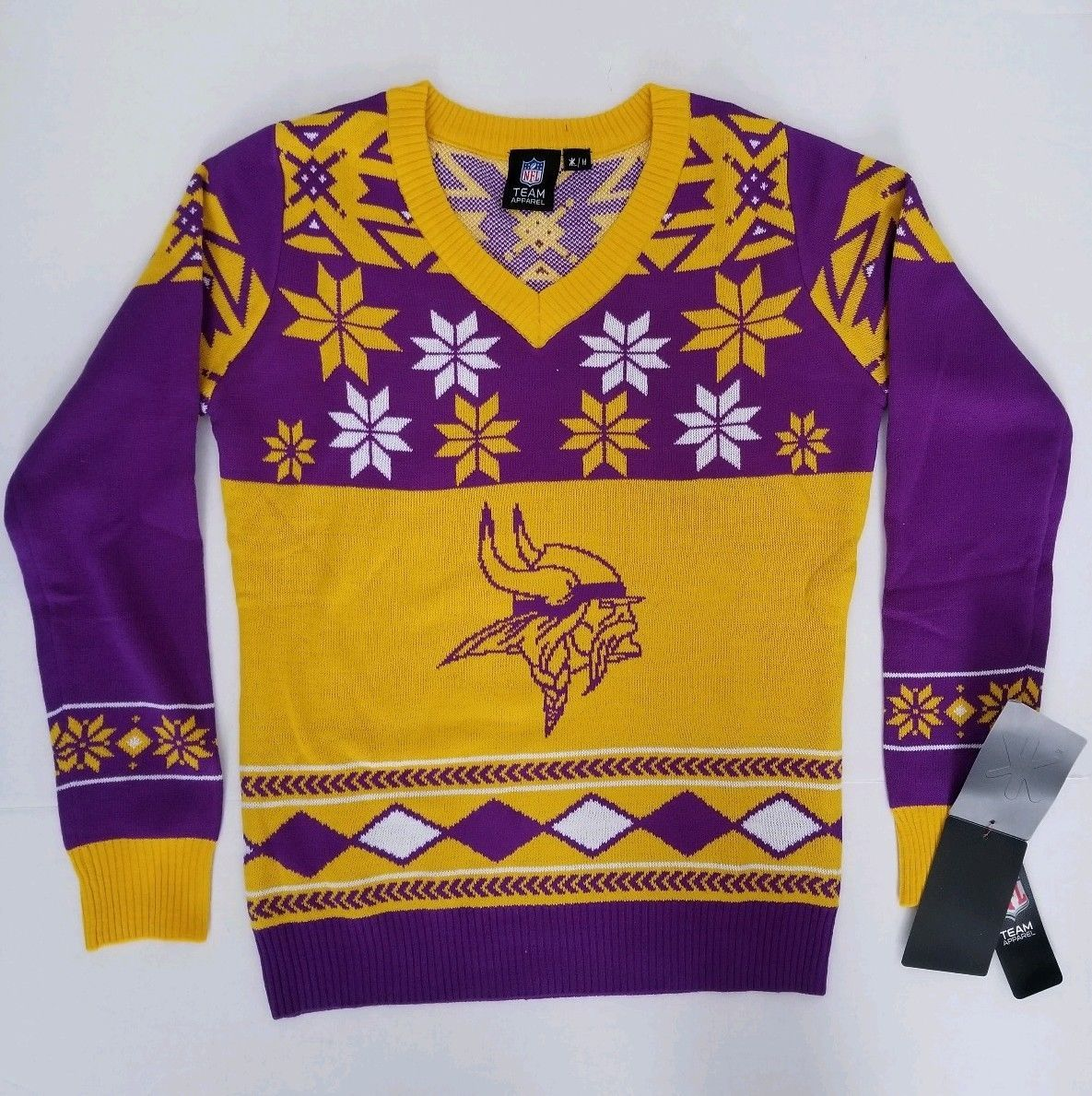 Details About Minnesota Vikings Womens Purple Big Logo V Neck Ugly