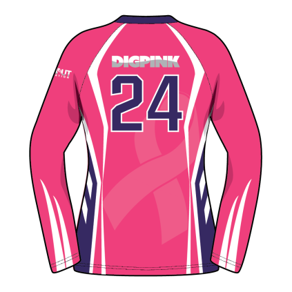 Custom Fuze Women S Sublimated Pro Series Quick Ship Long Sleeve Jersey Dig Pink Women Volleyball Long Sleeve Jersey Volleyball Jerseys