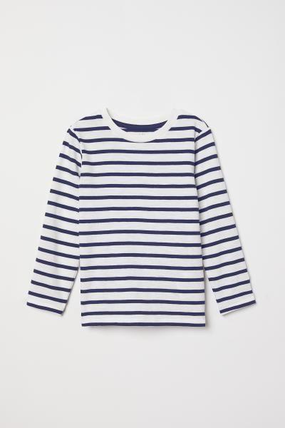 8e9562a67 Jersey top - White Blue striped - Kids