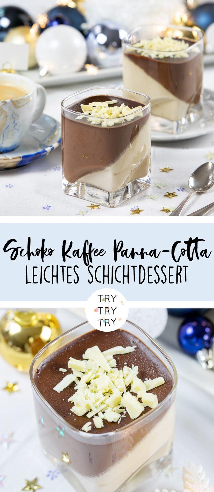 Schoko-Kaffee-Panna Cotta