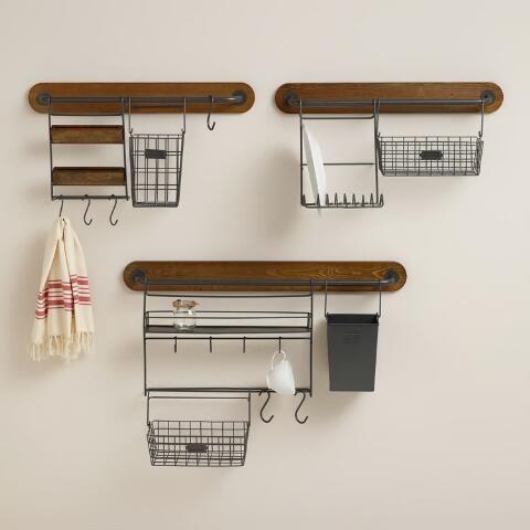 Wire Modular Kitchen Wall Storage Cooking Utensil Caddy | World Market