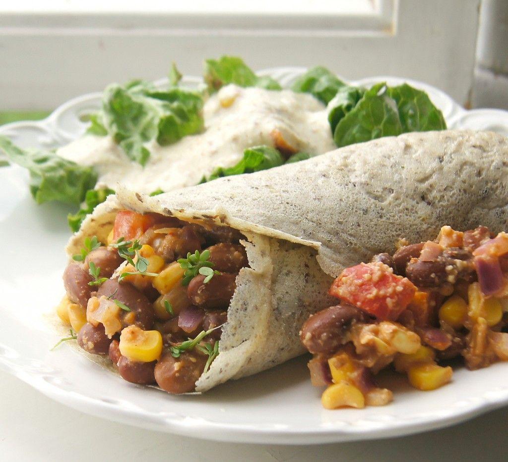 Delicious Vegan Bean Burritos- Good To Freeze For A Quick