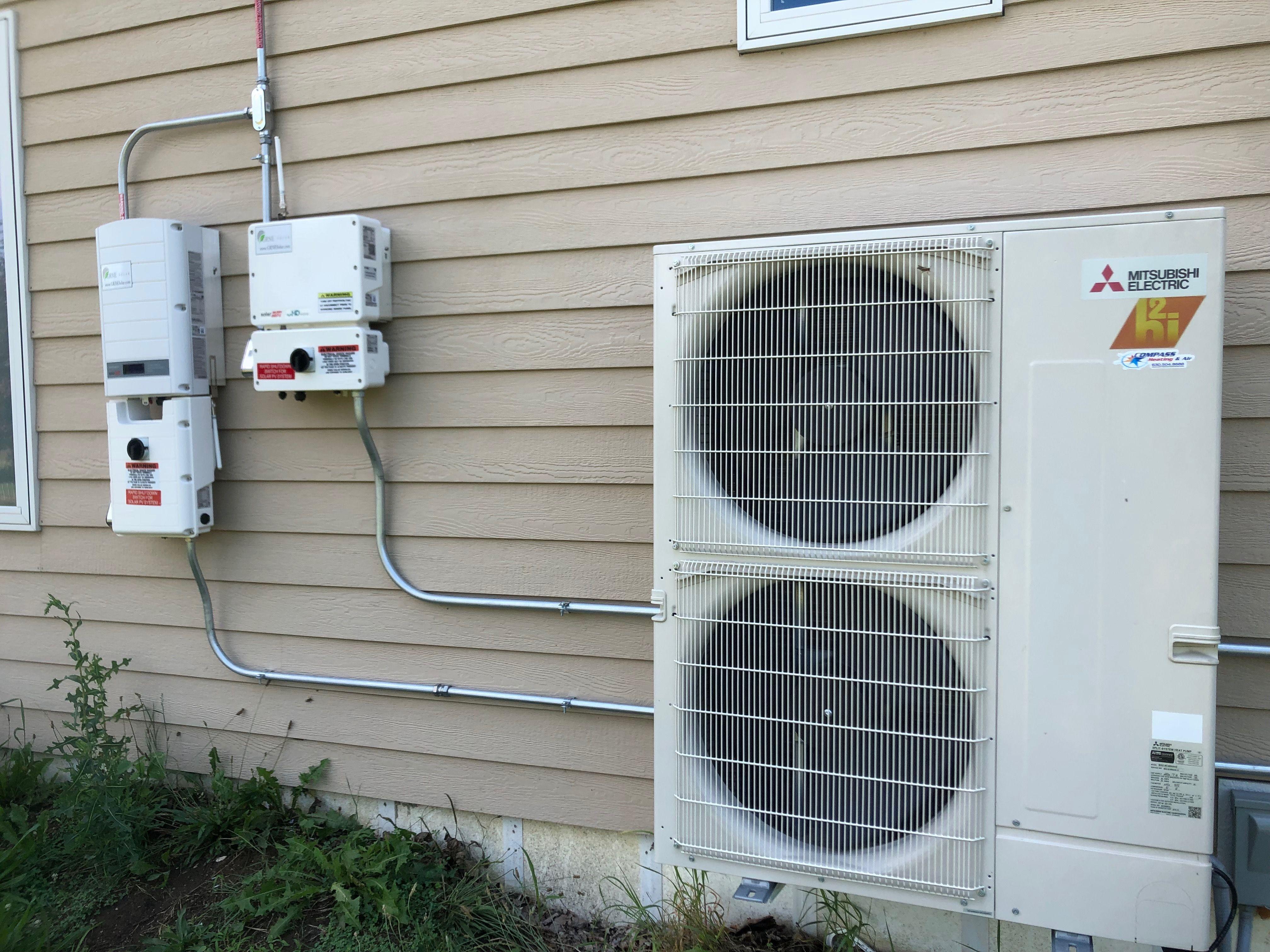 Mitsubishi 5zone hyper heat ductless multi zone heat pump