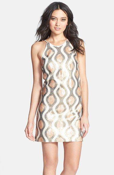 Dress the Population 'Jamie' Sequin Shift Minidress available at #Nordstrom