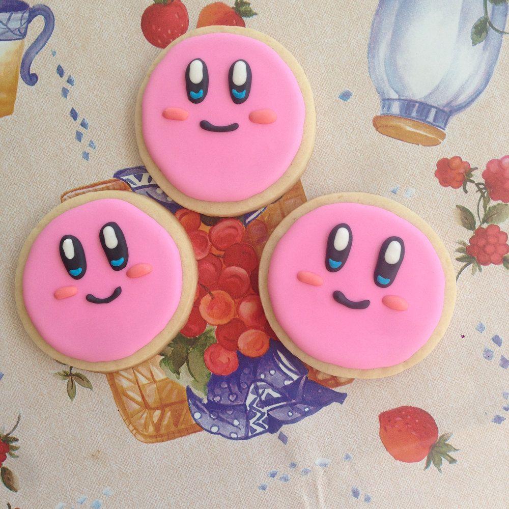 nintendo kirby super smash bros cute edible cookie by raffisbakery