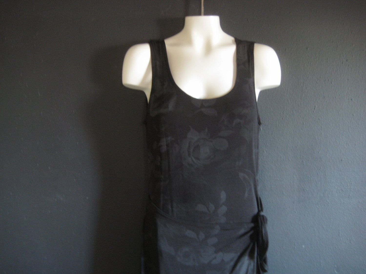 Womenus vintage black maxi dress bodycon wrap dress size