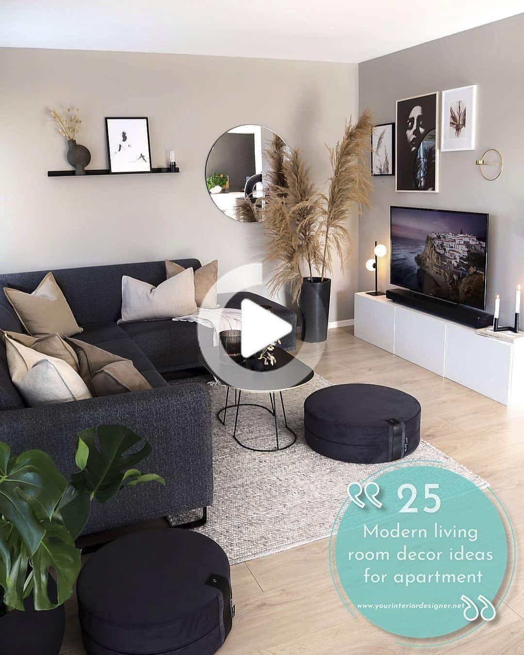 Pin auf Salon Dekor   Living room decor apartment, Living room ...