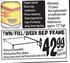 Twin Full Queen Bed Frame From Ollie S Bargain Outlet 42 99 In
