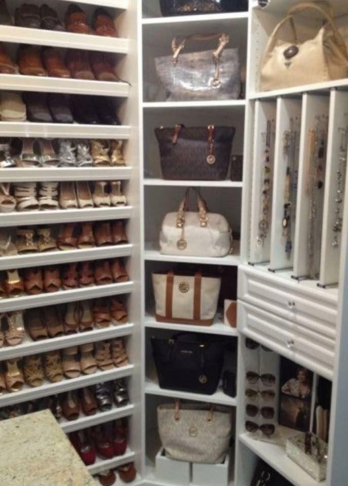 Closet storage idea kennington makeover pinterest for Zapatero mueble easy