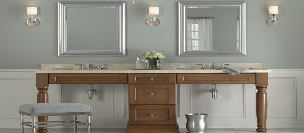 Cherry Bathroom Vanity Cabinet From Mid Continent Cabinetry Unique Cherry Bathroom Vanity Decorating Inspiration