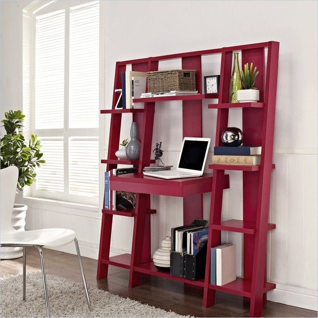 Statuette Of Ladder Desk Ikea Simple Solution For Workstation As Well As The Storage Needs Home Altra Furniture Bookcase Desk