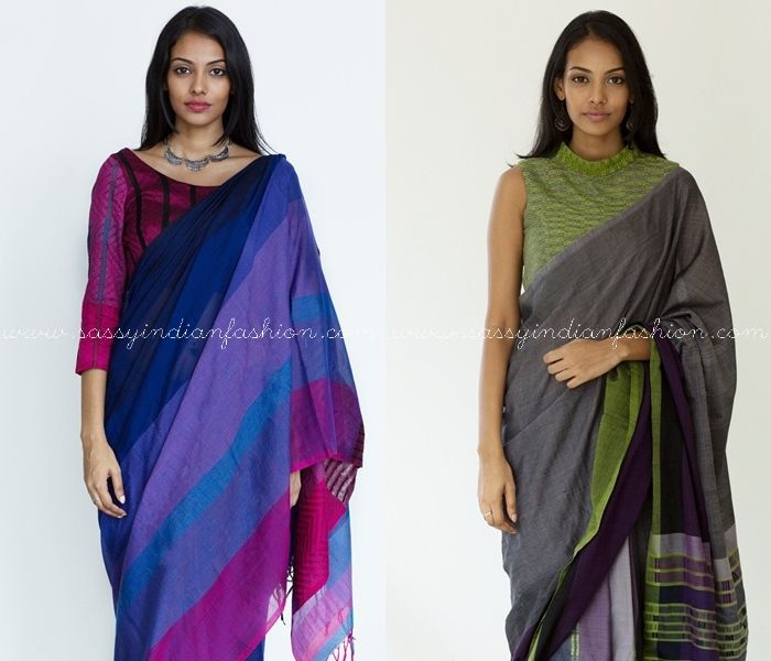 6 Tips to Look Stylish in Formal Office Wear Sarees | Saree ...