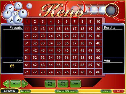 Keno gambling game casinos to win real money for free