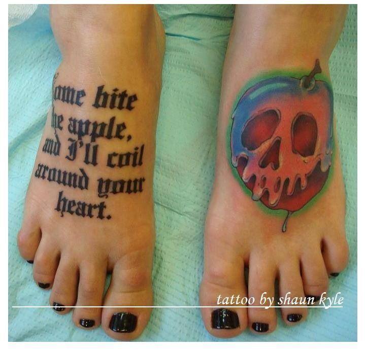 Poison Apple Snow White Tattoos Tattoos Pinterest