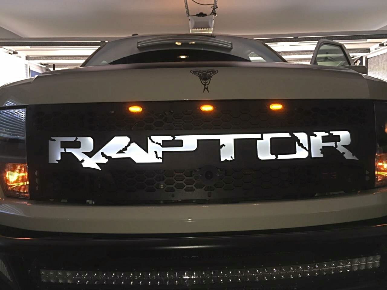 db customz 2010 2014 ford raptor led backlit grille. Black Bedroom Furniture Sets. Home Design Ideas