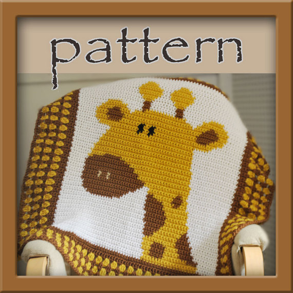 PATTERN Crochet Giraffe Baby Afghan - PDF - Instant Download ...